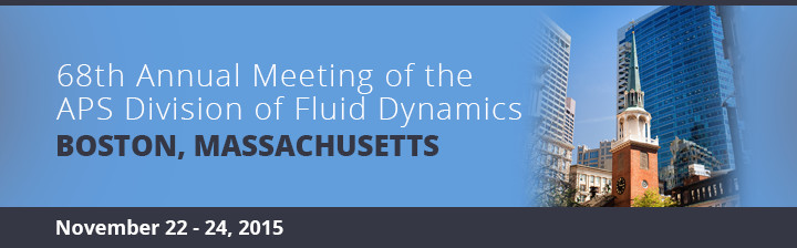 68th Annual Meeting of the APS Division of Fluid Dynamics