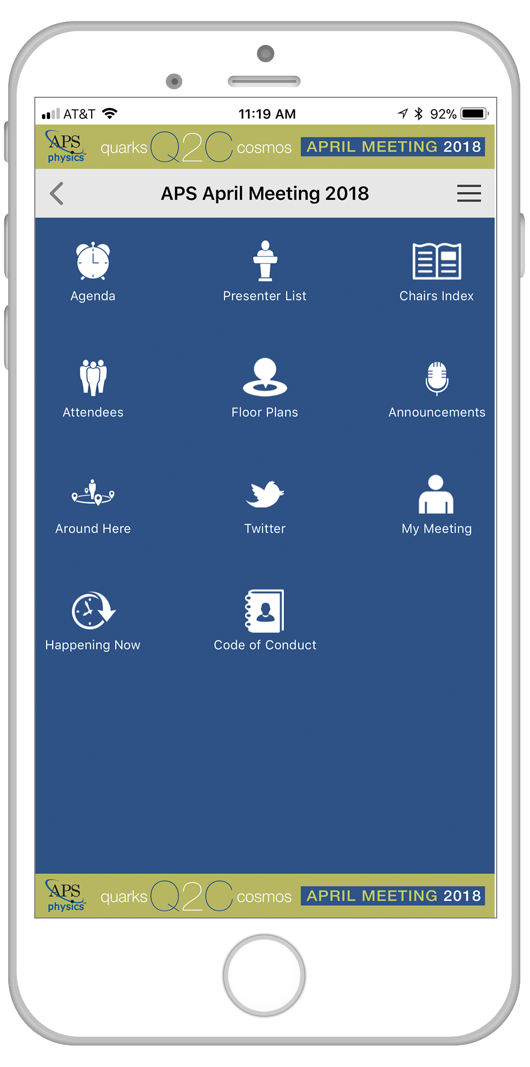 mobile app for aps meetings