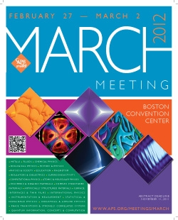 March Meeting 2012 poster