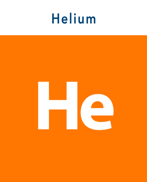 Helium icon with text
