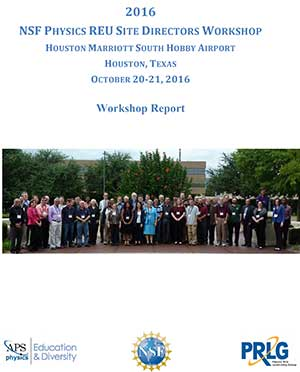 REU Site Directors Workshop Report 2016 cover