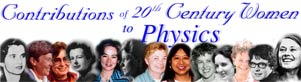 Contributions of 20th Century Women to Physics