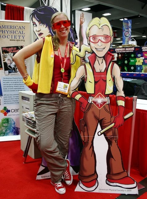 Spectra and her creator Dr. Rebecca Thompson