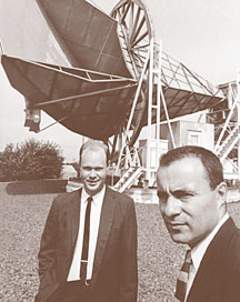 Arno Penzias and Robert Wilson. Photo courtesy of AIP Niels Bohr Library
