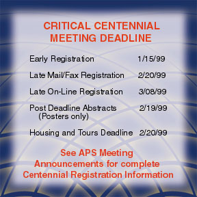 critical centennial meeting deadlines