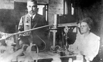 Typical dual-career couple: Marie and Pierre Curie. (Photo courtesy of AIP Emilio Segre Visual Archives)