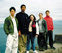 American competitors in the 1998 Physics Olympiad in Iceland. (Photo from Bernard Khoury, AAPT)
