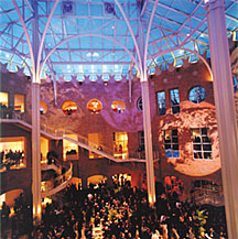 The lavish interior of Atlanta's Fernbank Museum, site of the APS Centennial Gala Celebration.