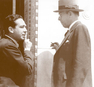 Leo Szilard and E.O. Lawrence at a 1935 APS meeting in Washington, DC.