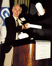 Robert Greenler letured at the APS Centennial Meeting this past March.