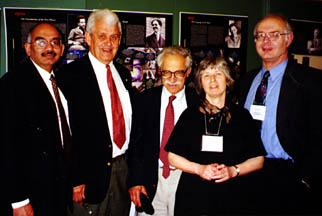 Leading members of the Northwest Section. From left to right are: Yogi Gupta, Erich Vogt, Ernie Henley, Mary Alberg, David Measday. Photo by Dave Hendrie