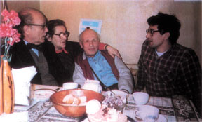 Herman Feshbach with Elena Bonner, Andrei Sakharov, and Alexi Semenov, Moscow, 1987.
