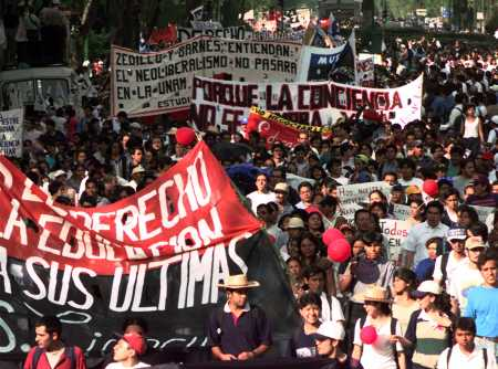 Some 100,000 striking students of Mexico's National University