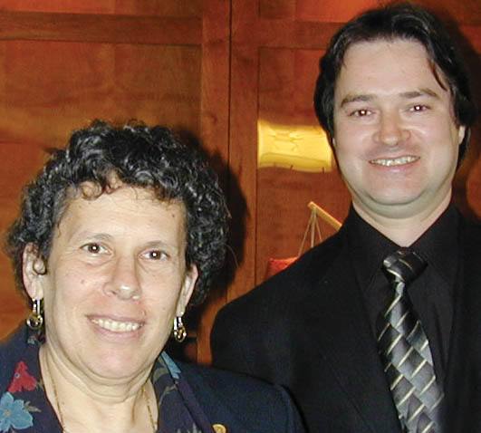 2002 POC Chair: Beverly Berger of the National Science Foundation (left); 2001 POC Chair : Mark A. Riley of Florida State University in Tallahassee