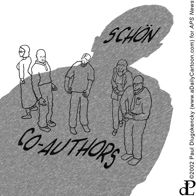 Editorial Cartoon: Schön vs Co-Authors