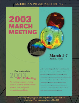 2003 March Meeting poster