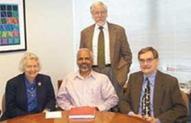 Incoming ICTP Director Katepalli Sreenivasan meets at APS headquarters