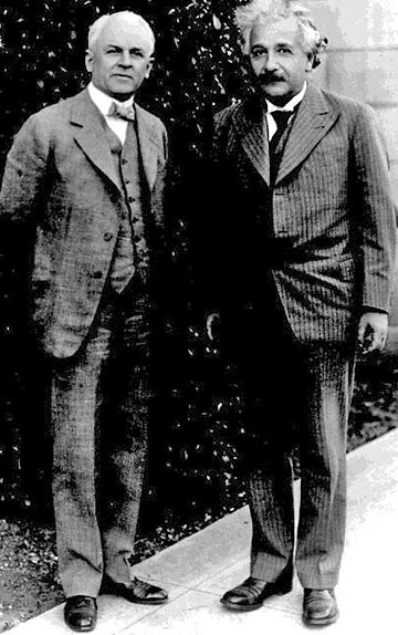 Robert Millikan and Albert Einstein, Caltech, 1931