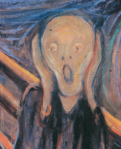 The Scream (1893) by Edvard Munch (National Gallery, Oslo Norway)