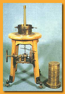Pierre and Jacques Curie's electrometer.