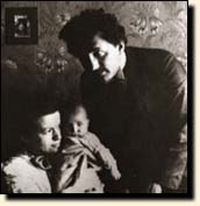 Einstein and his first wife with their first-born son.