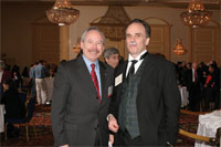 Alan I. Leshner (left), CEO of the AAAS, is on the same wavelength as 'Prince Louis de Broglie'
