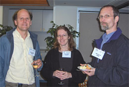 Daniel Dubin of UCSD (left) and Adrienne Dubin are shown with colleague Kim Griest of UCSD