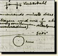 A 1914 sketch by Einstein on how the Sun's mass might cause light to bend. Photo Credit: American Institute of Physics