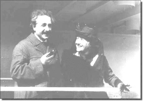 Einstein with his second wife, Elsa.