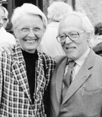 Abraham Pais and his wife Ida Nicolaisen taken Sept. 7, 1996 by Norton M. Hintz, courtesy AIP Emilio Segre Visual Archives