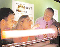 Demonstrations of plasma, its mystery, beauty, and power, were available at the DPP-sponsored Plasma Sciences Expo.