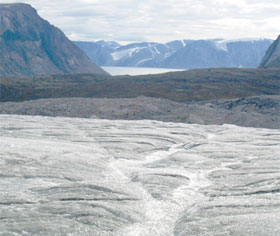 Photo of glacier on Baffin Island