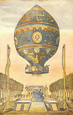illustration of early hot air balloon