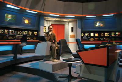 Andre Bormanis on set of Star Trek