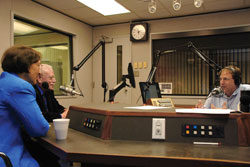 Nancy Ellen Abrams and Joel Primack on the air