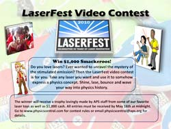 LaserFest Video Contest Poster