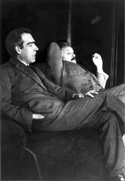 Niels Bohr and Albert Einstein in 1925.