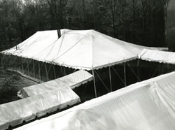 tents for ACP dedication ceremony sma