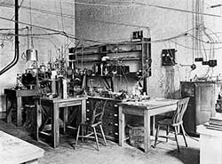 Sir Ernest Rutherford's laboratory