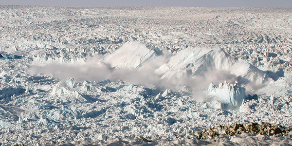 Icebergs from Ilulissat glacier in Greenland