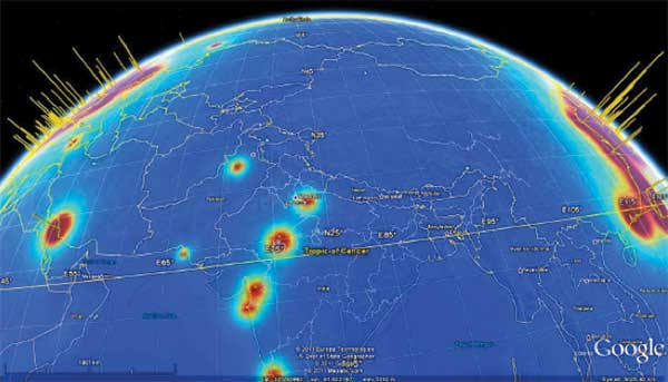 Global map of reactor neutrino emission