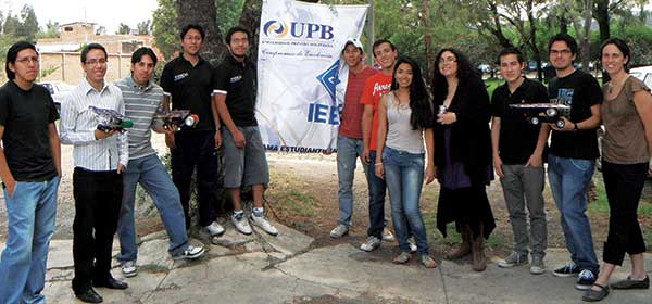 Students from an alternative energy class in Cochabamba, Bolivia