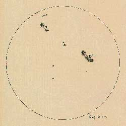 Galileo sunspots