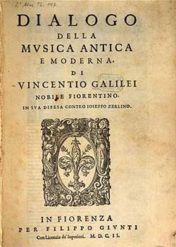 Vicentio Galilei book