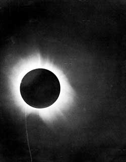Eddington's photographs of the May 29, 1919, solar eclipse.
