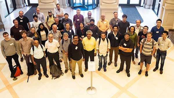 Researchers and editors of the Physical Review journals at the second Physics Next workshop