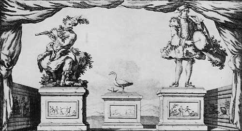 Mechanical musicians and a duck