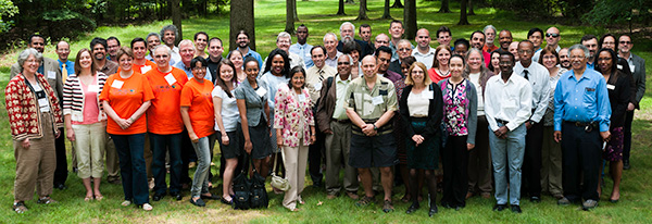 Attendees of the APS Bridge Program Summer Meeting 2014 at APS Headquarters in College Park, MD.