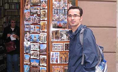 Omid Kokabee outside store