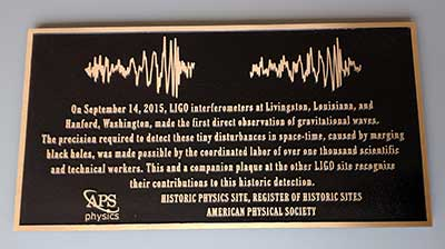 Livingston LIGO plaque